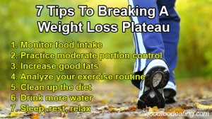 weight loss plateau tips on how to break it